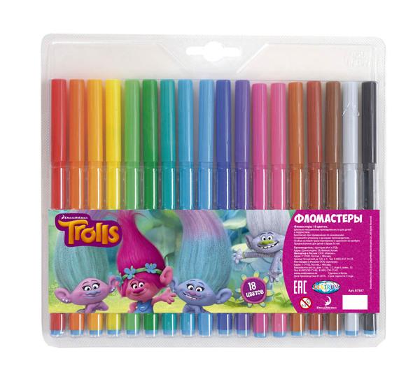 Фломастеры Тролли 18 цветовФломастеры<br>Фломастеры Тролли 18 цветов<br>