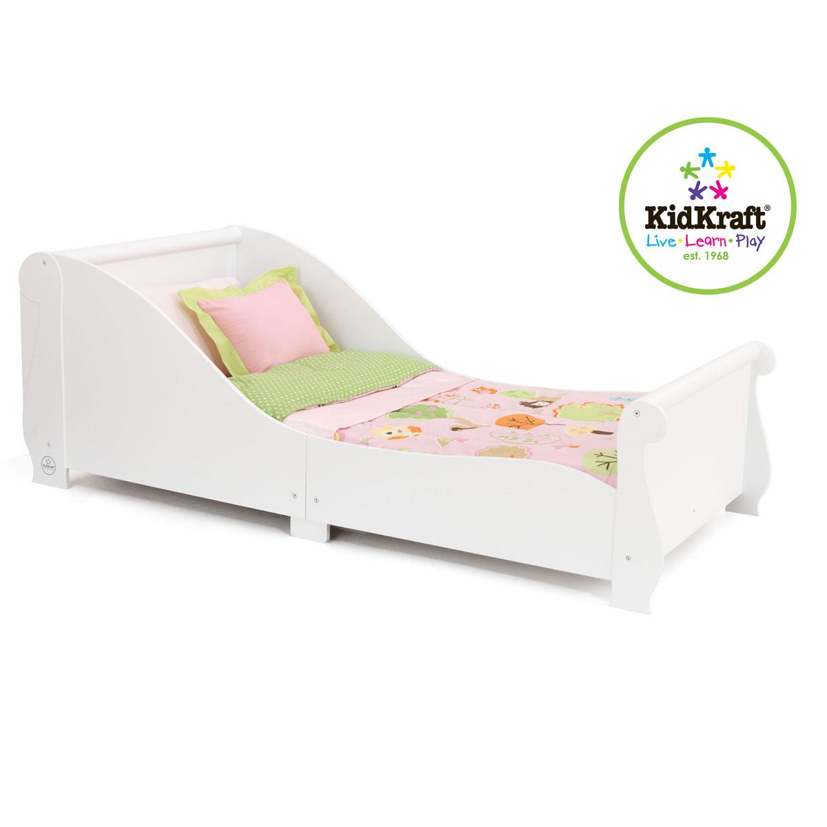 Купить Детская кровать - Sleigh, белая, KidKraft