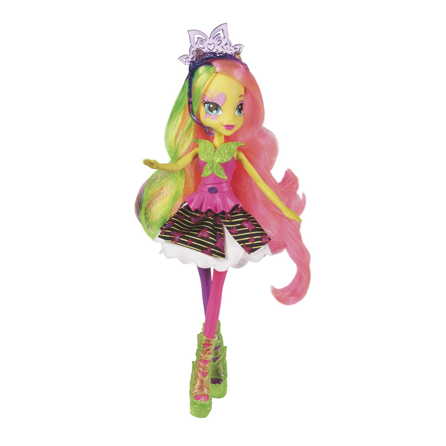 Кукла из серии Equestria Girls Rainbow Rocks Neon – Флаттершай