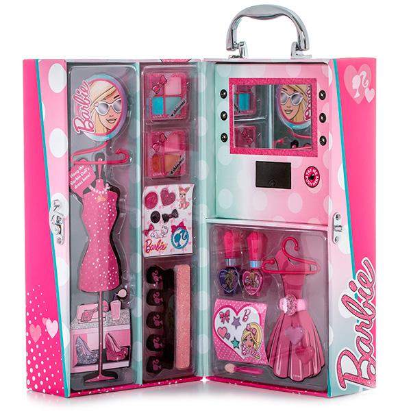 Набор детской декоративной косметики из серии Barbie, в чемодане с подсветкойЮная модница, салон красоты<br>Набор детской декоративной косметики из серии Barbie, в чемодане с подсветкой<br>