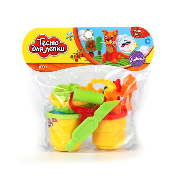 Набор - Тесто для лепки, 2 цвета, формочкиНаборы для лепки<br>Набор - Тесто для лепки, 2 цвета, формочки<br>