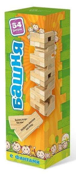 Купить Настольная игра - Башня с заданиями для детей, 54 детали, Бэмби