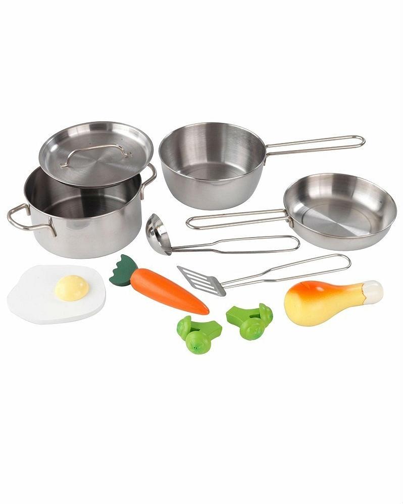 Набор игровой - Игрушечная посуда из металла, 11 элементовАксессуары и техника для детской кухни<br>Набор игровой - Игрушечная посуда из металла, 11 элементов<br>