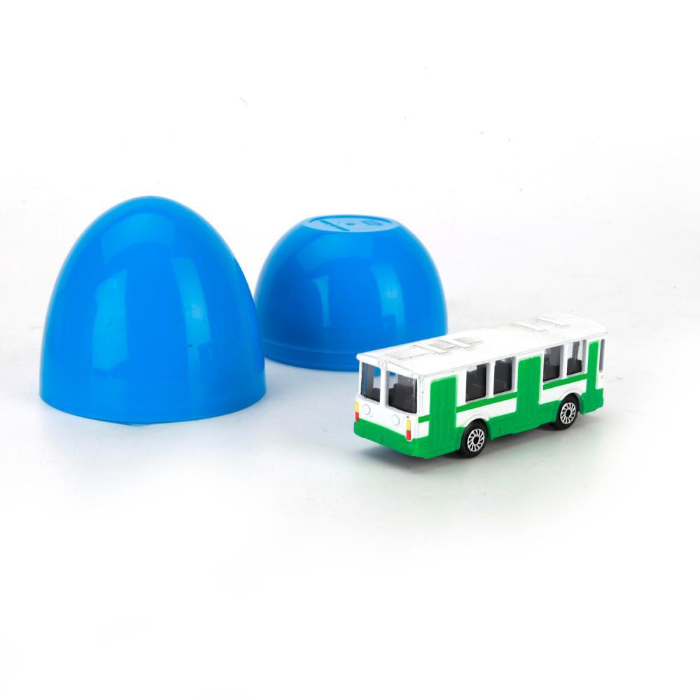 Купить Металлическая машина-сюрприз в яйце - Транспорт 7, 5 см, Технопарк
