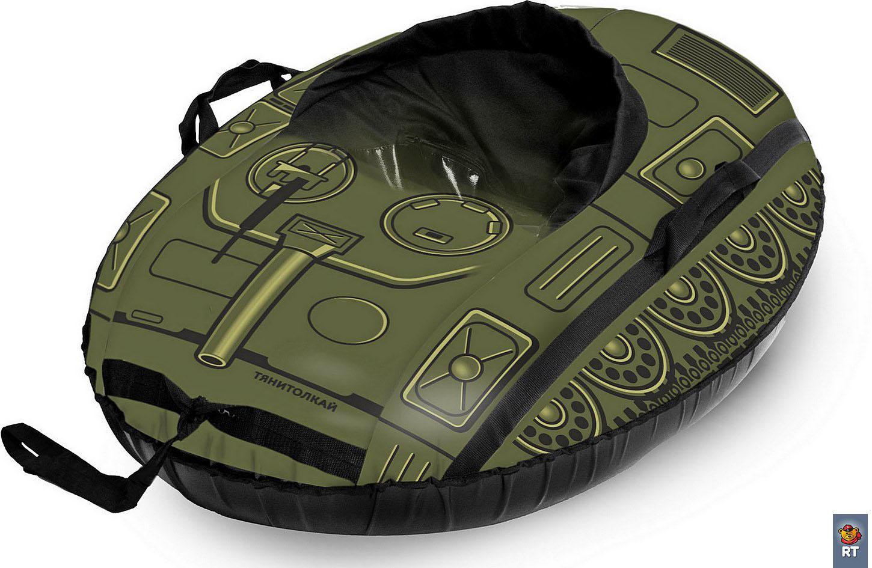 Санки надувные овальные - Машинка Comfort - Танк
