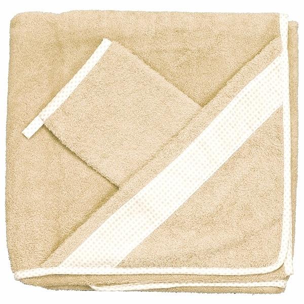 Комплект для купания Бебихуд, светло-бежевыйПолотенца и халаты<br>Комплект для купания Бебихуд, светло-бежевый<br>