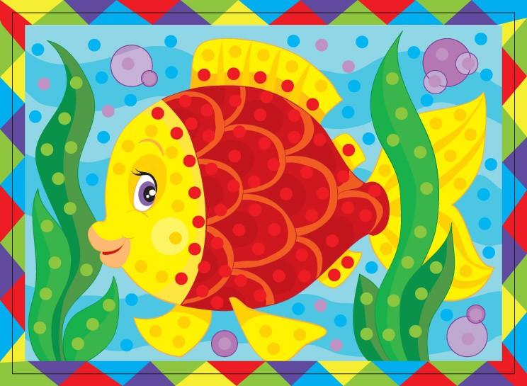 Набор для творчества - рисунок из страз «Рыбка»Аппликация, пайетки<br>Набор для творчества - рисунок из страз «Рыбка»<br>