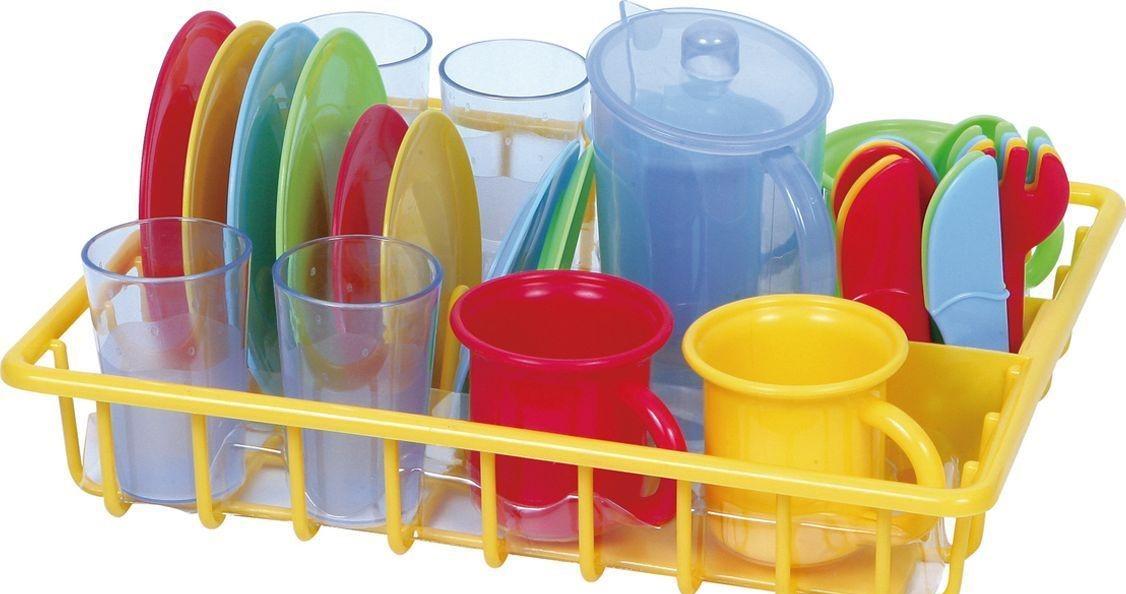 Игровой набор - Сушка с посудой, 30 предметовАксессуары и техника для детской кухни<br>Игровой набор - Сушка с посудой, 30 предметов<br>