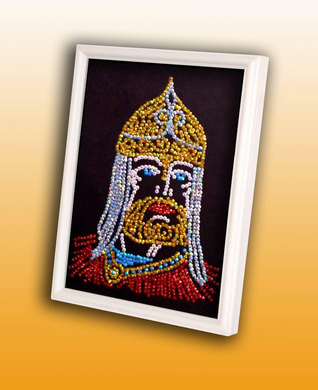 Мозаика из пайеток Богатырь (Волшебная мастерская, 014вм) - интернет-магазин ToyWay.Ru