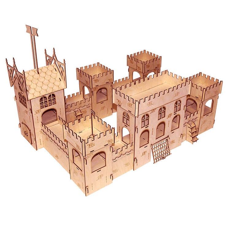 Конструктор Замок из серии Я, дерево фото