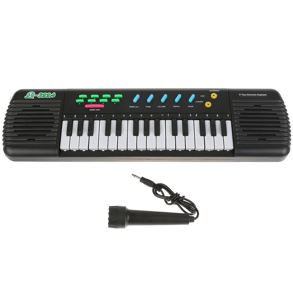 Синтезатор на батарейках с микрофоном MQ322A фото