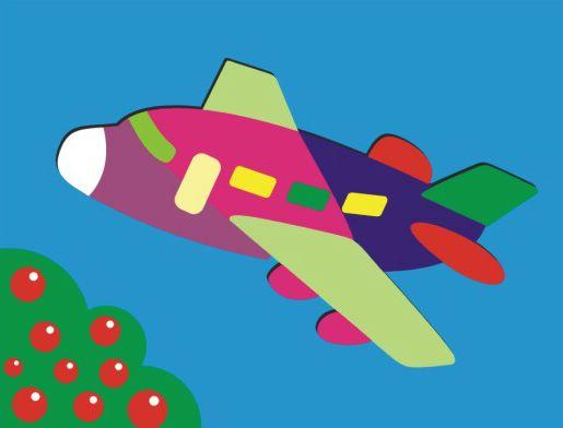 Деревянный пазл в рамке – СамолётРамки и паззлы<br>Деревянный пазл в рамке – Самолёт<br>