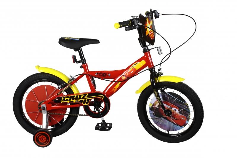 Купить Детский двухколесный велосипед - Тачки, красный, Navigator