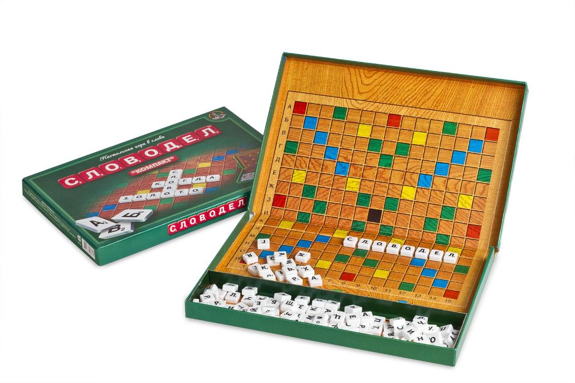 Настольная игра Словодел, компактнаяРазвивающие<br>Настольная игра Словодел, компактная<br>
