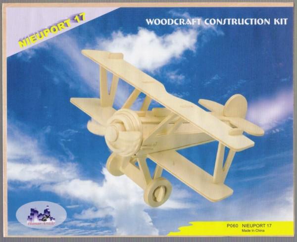 Сборная деревянная модель - Самолёт Ньютон 17Пазлы объёмные 3D<br>Сборная деревянная модель - Самолёт Ньютон 17<br>