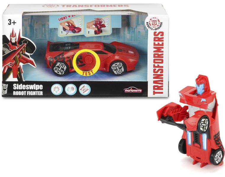 Машинка-трансформер из серии Трансформеры - Sideswipe со светом и звуком, 15 см.Игрушки трансформеры<br>Машинка-трансформер из серии Трансформеры - Sideswipe со светом и звуком, 15 см.<br>