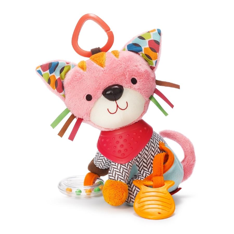 Развивающая игрушка-подвеска Котенок с прорезывателем и колокольчикомДетские погремушки и подвесные игрушки на кроватку<br>Развивающая игрушка-подвеска Котенок с прорезывателем и колокольчиком<br>