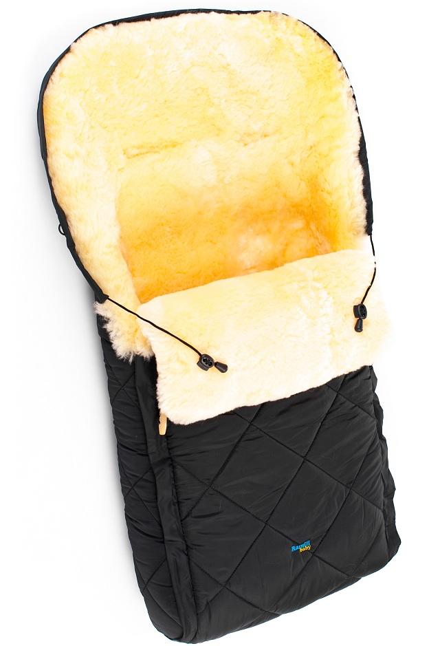 Детский меховой конверт из натуральной овчинки Ramili Baby Classic Black