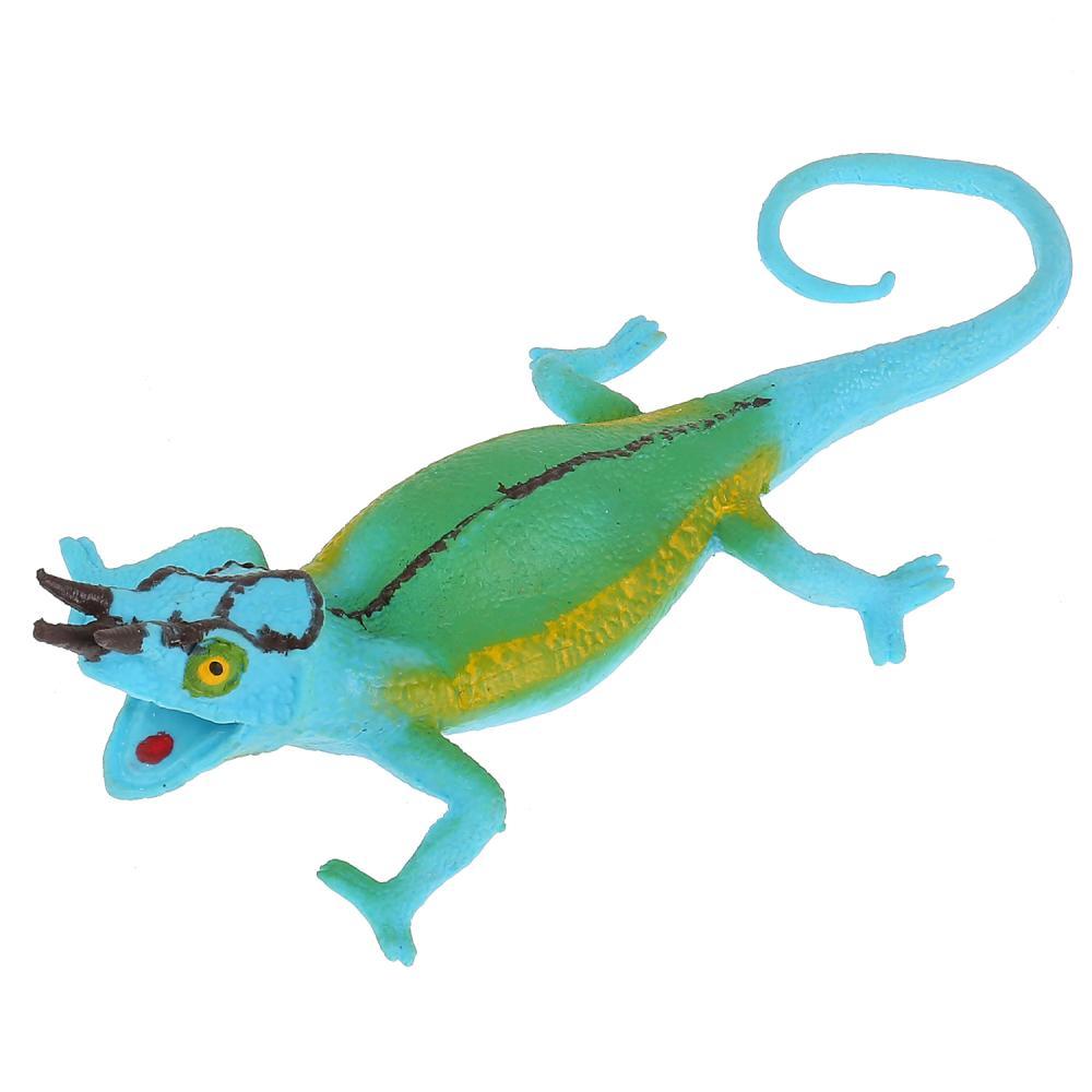 Игрушка-тянучка из серии Рассказы о животных - Трехрогий хамелеон фото