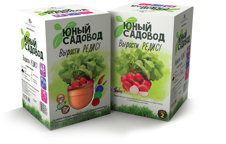Набор для экспериментов Юный садовод - Вырасти редисНаборы для выращивания растений<br>Набор для экспериментов Юный садовод - Вырасти редис<br>
