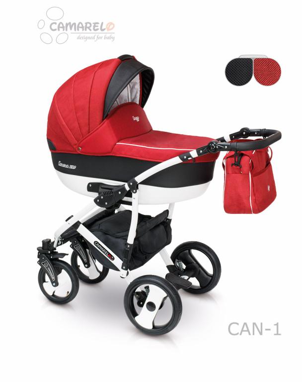 Детская коляска Camarelo Carera New 2 в 1, цвет - Can_1Детские коляски 2 в 1<br>Детская коляска Camarelo Carera New 2 в 1, цвет - Can_1<br>