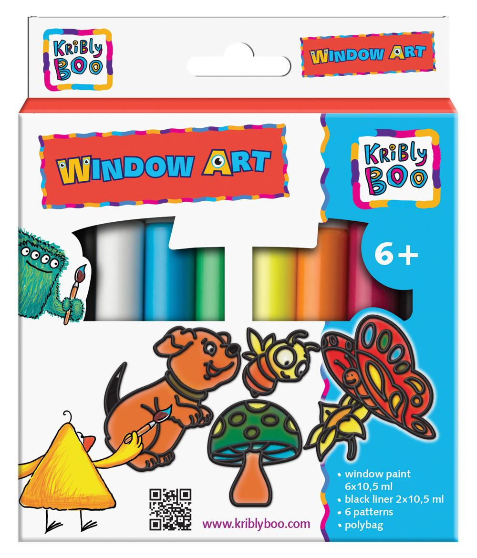 Набор Window Art – витражные краски с трафаретамиКраски<br>Набор Window Art – витражные краски с трафаретами<br>