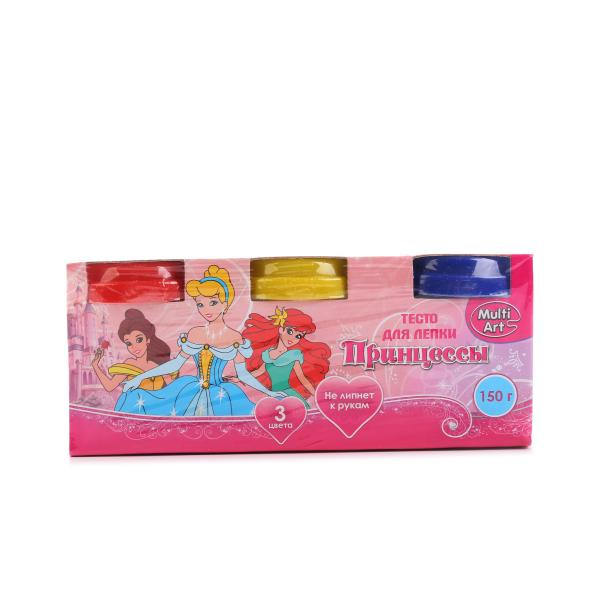 Купить со скидкой Тесто для лепки - Принцессы, 3 штуки