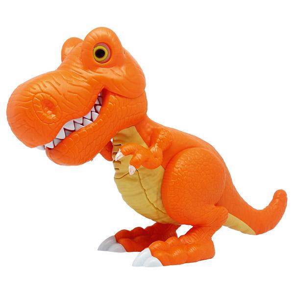 Игрушка Junior Megasaur - Динозавр, оранжевый, свет, звук, движение