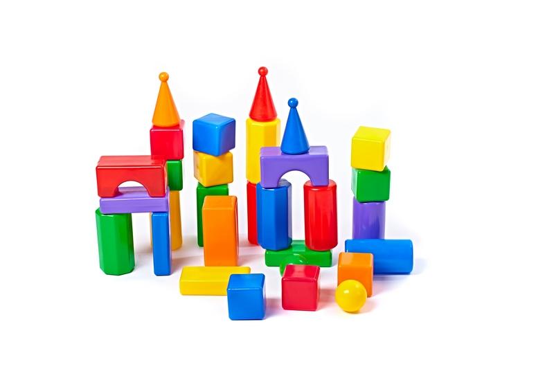 Купить Строительный набор - Стена-2, 30 элементов, Пластмасса-Детство