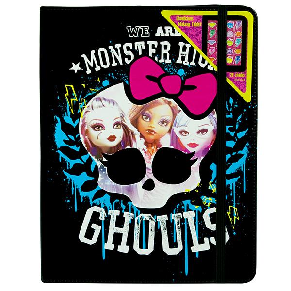 Набор детской декоративной косметики из серии Monster High в виде чехла для планшетаЮная модница, салон красоты<br>Набор детской декоративной косметики из серии Monster High в виде чехла для планшета<br>