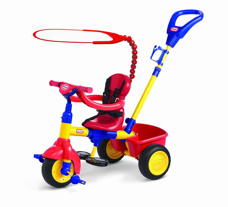 Красно-синий трёхколёсный велосипед 3 в 1 - Велосипеды детские, артикул: 93573