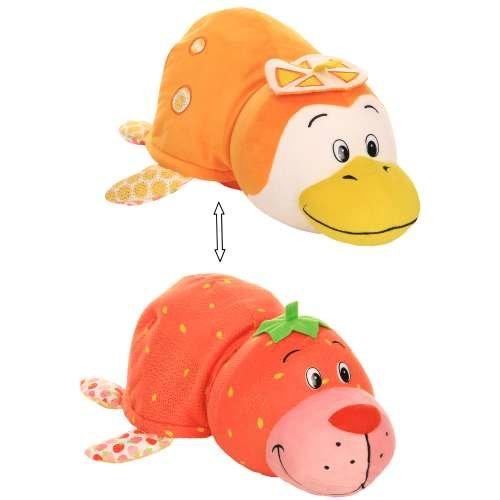 Купить Плюшевая игрушка из серии Вывернушка Ням-Ням 2-в-1 Морской котик с ароматом клубники-Пингвинчик с ароматом апельсиновой газировки, 40 см., 1TOY