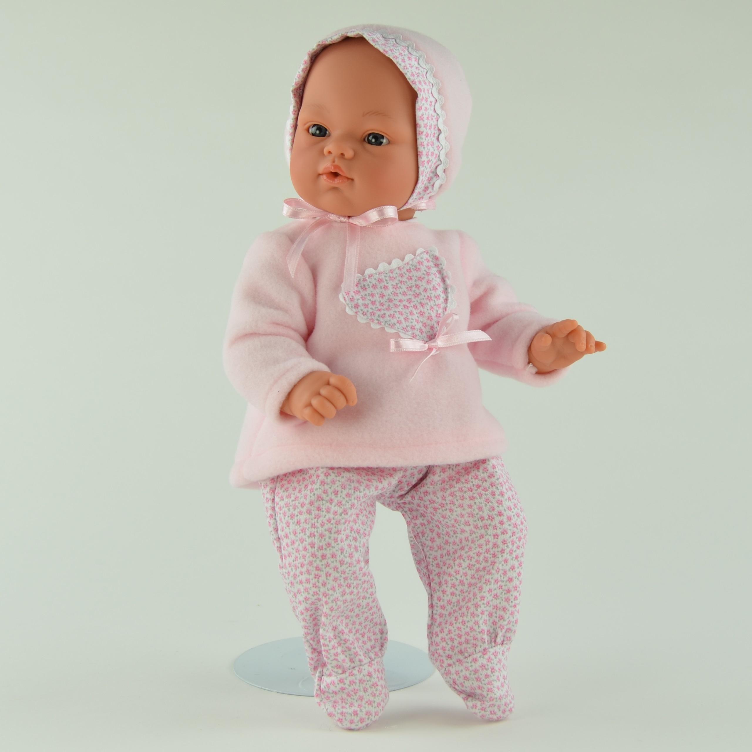 Кукла Коки в розовом чепчике, 36 см.Куклы ASI (Испания)<br>Кукла Коки в розовом чепчике, 36 см.<br>