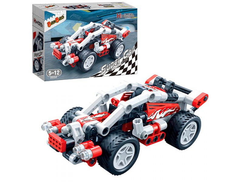 Конструктор - Гоночная машина, 138 деталейКонструкторы BANBAO<br>Конструктор - Гоночная машина, 138 деталей<br>