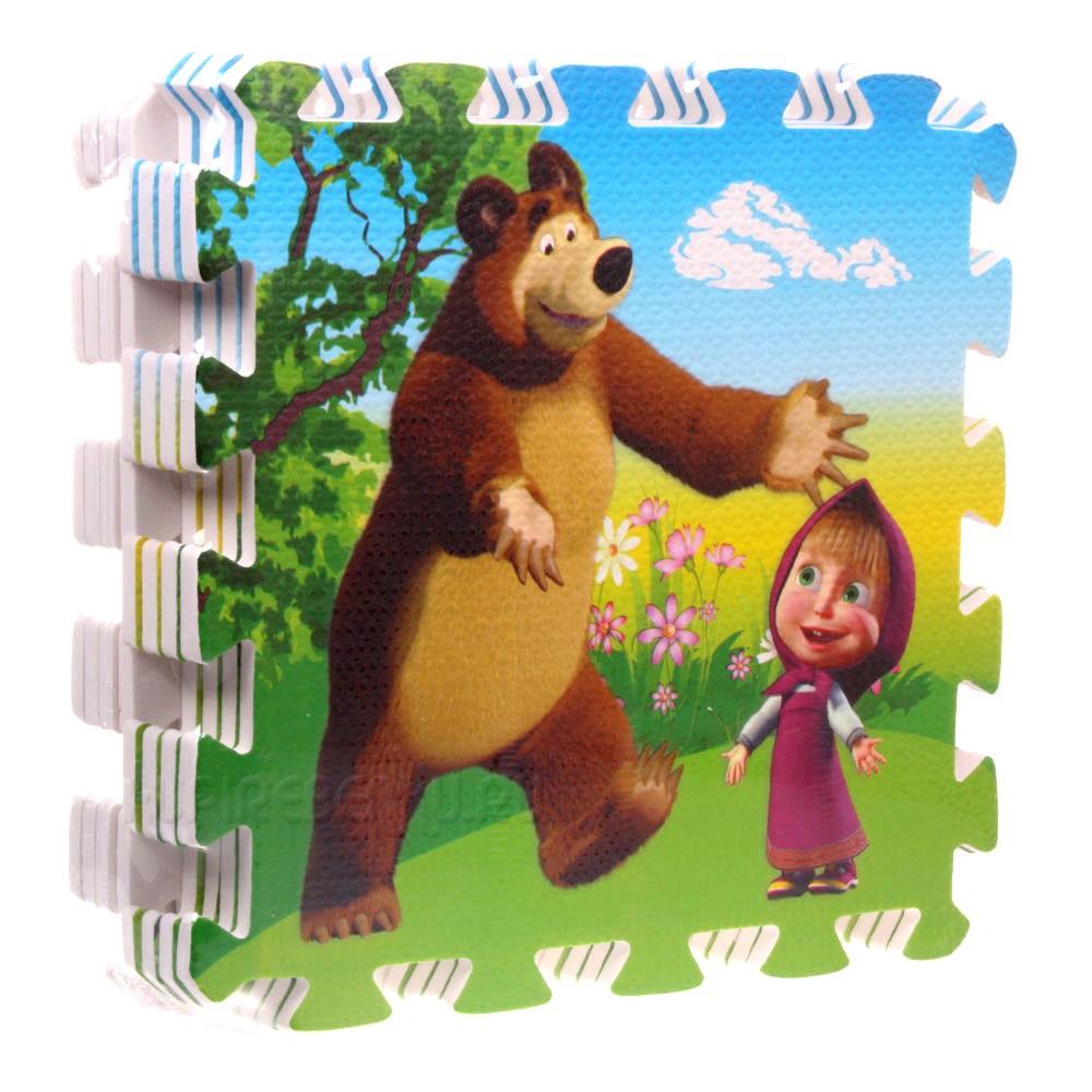 Коврик-пазл «Маша и медведь» 8 сегментов