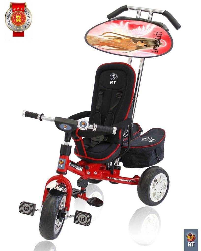 Купить 3-х колесный велосипед Lexus Trike original RT Next Deluxe, с высокой спинкой, красный