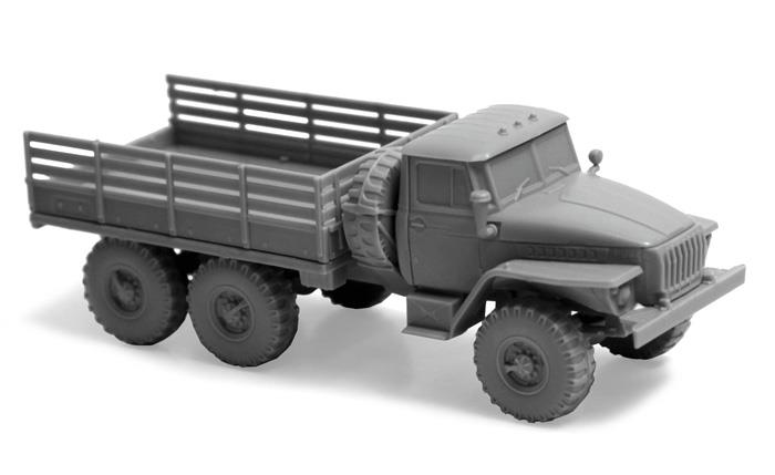 Модель сборная. Советский армейский грузовик Урал-4320Модели автомобилей для склеивания<br>Модель сборная. Советский армейский грузовик Урал-4320<br>