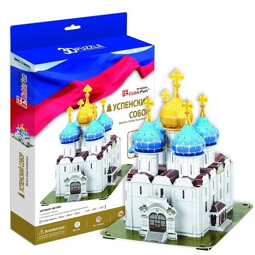 Купить 3D пазл Успенский собор Троице-Сергиева Лавра, Cubic Fun