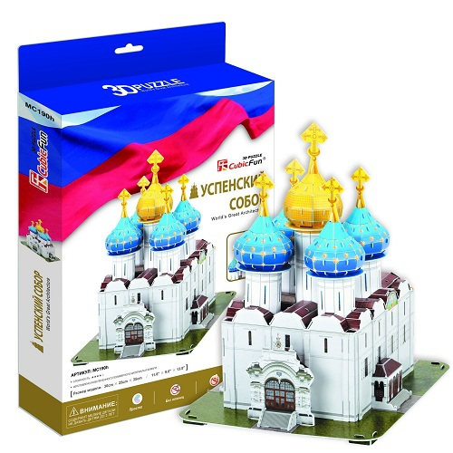 3D пазл Успенский собор Троице-Сергиева Лавра - Пазлы, артикул: 95644
