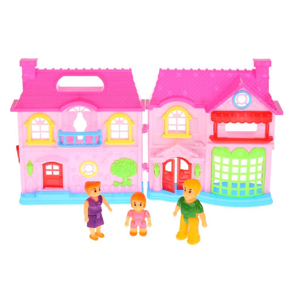 Купить Дом для кукол с набором аксессуаров, свет и звук, Играем вместе