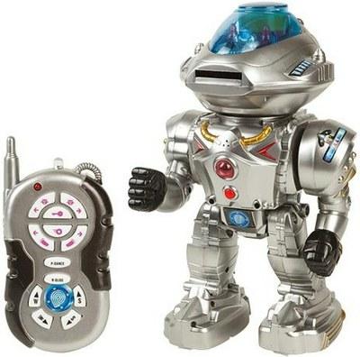 Робот на радиоуправлении, световые и звуковые эффекты, с пультом, русифицированный