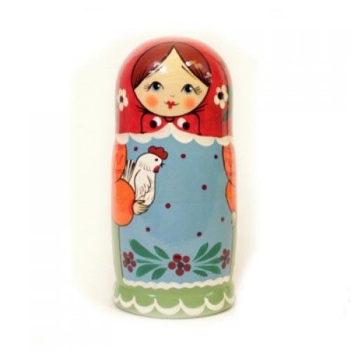 Матрешка 5 кукольная – Загорская, 17 см - Деревянные игрушки, артикул: 161770