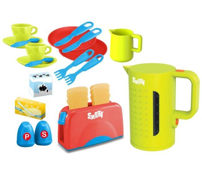 Большой набор для завтрака из серии Smart с тостеромАксессуары и техника для детской кухни<br>Большой набор для завтрака из серии Smart с тостером<br>