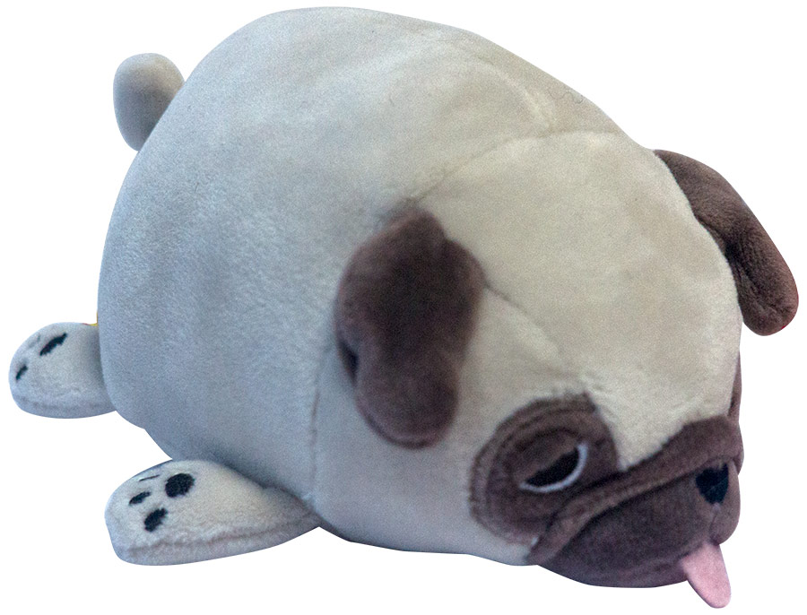 Купить Мягкая игрушка - Собака мопс светло-коричневый, 13 см, ABtoys