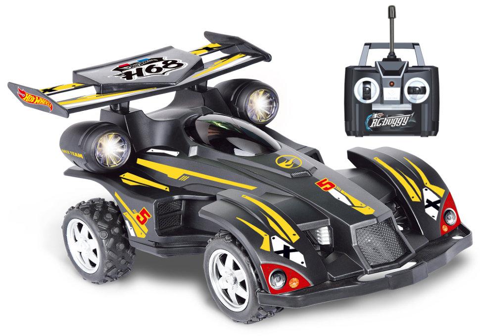картинка Багги Hot Wheels на радиуправлении, cо светом, скорость до 17 км/ч, с АКБ, чёрная от магазина Bebikam.ru