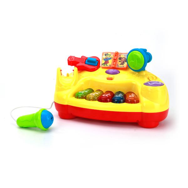 Купить Развивающая игрушка – Интерактивное пианино с микрофоном, 10 песен из м/ф, свет и звук, Умка