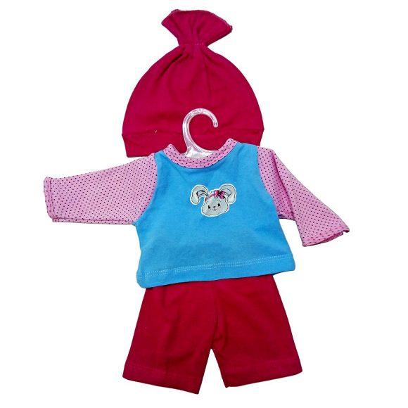 Одежда для куклы 38-43 см - кофточка, брючки и шапочка ЗайкаОдежда для кукол<br>Одежда для куклы 38-43 см - кофточка, брючки и шапочка Зайка<br>