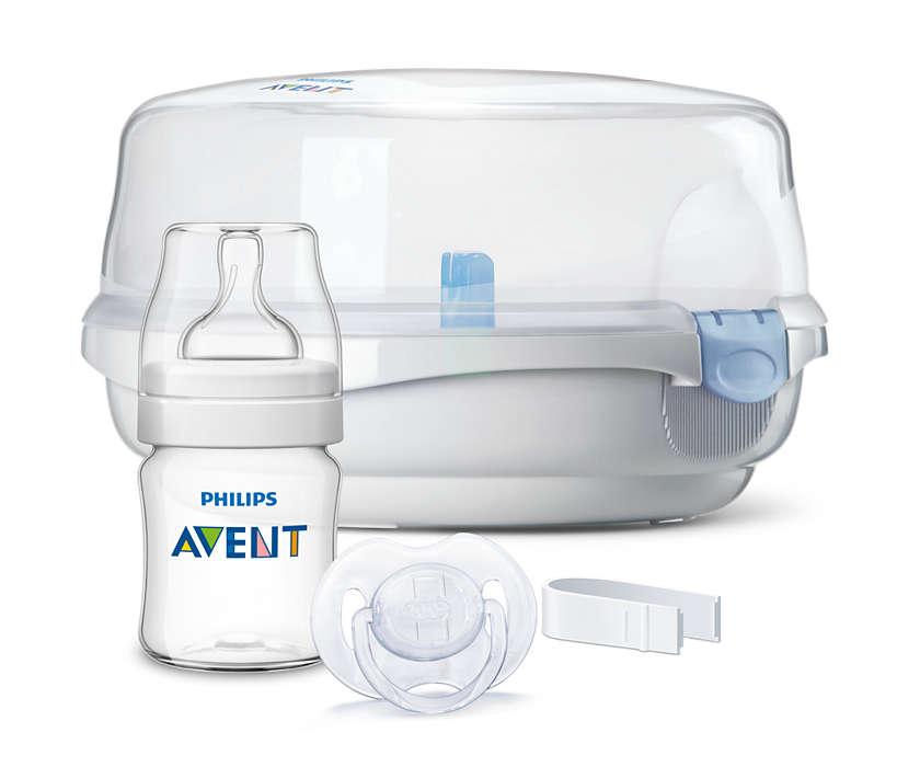 Стерилизатор бутылочек для СВЧ-печейПодогреватели детского питания и стерилизаторы<br>Стерилизатор бутылочек для СВЧ-печей<br>