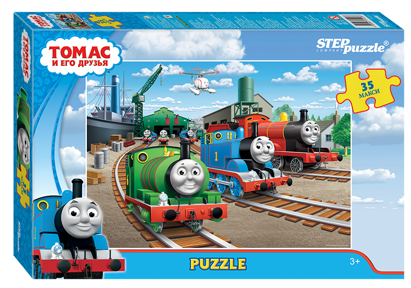 Купить Пазл для малышей - Томас и его друзья, макси 35 деталей, Step Puzzle