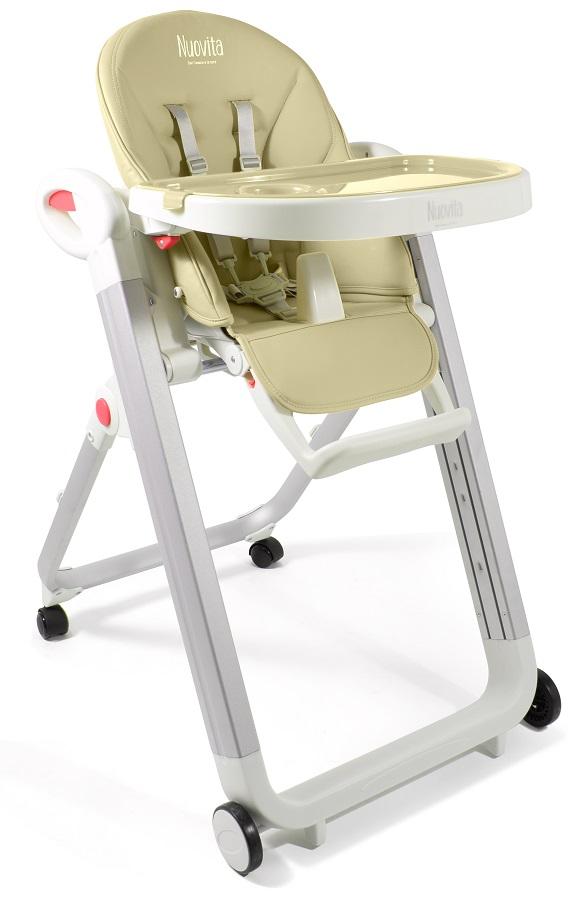 Стульчик для кормления Nuovita Futuro Bianco, цвет - Sabbia / песочныйСтульчики для кормления<br>Стульчик для кормления Nuovita Futuro Bianco, цвет - Sabbia / песочный<br>
